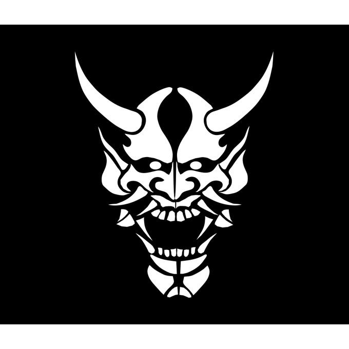 Les pourfendeurs d'étoiles Oni-gamen-masque-demon-japonais-mug-mug-bleu-contenance_1