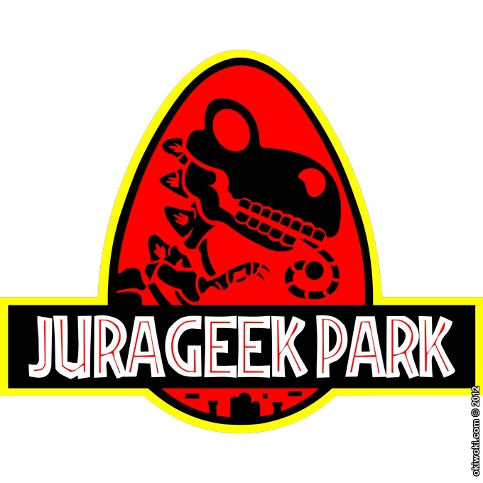 stickers d co parodies jeux vid o jurageek park. Black Bedroom Furniture Sets. Home Design Ideas