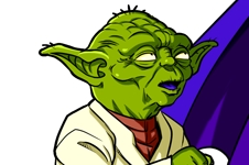 Manga - Parodie Yoda de Star Wars et Dieu de Dragon Ball Z