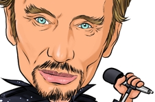 Caricature Stars - Johnny Hallyday