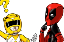 Comics - Parodie Deadpool et Power Rangers