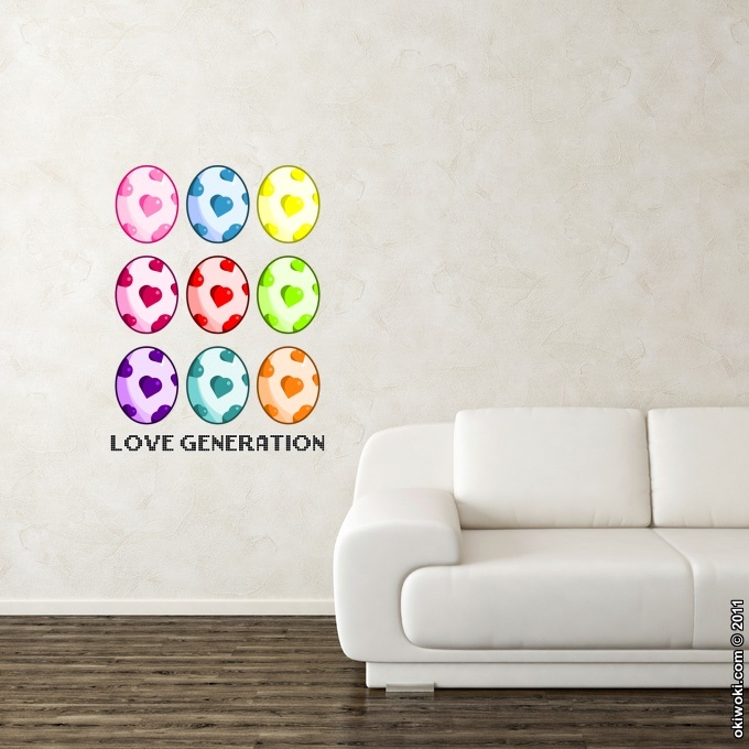Stickers d co love generation - Sticker mural grand format ...