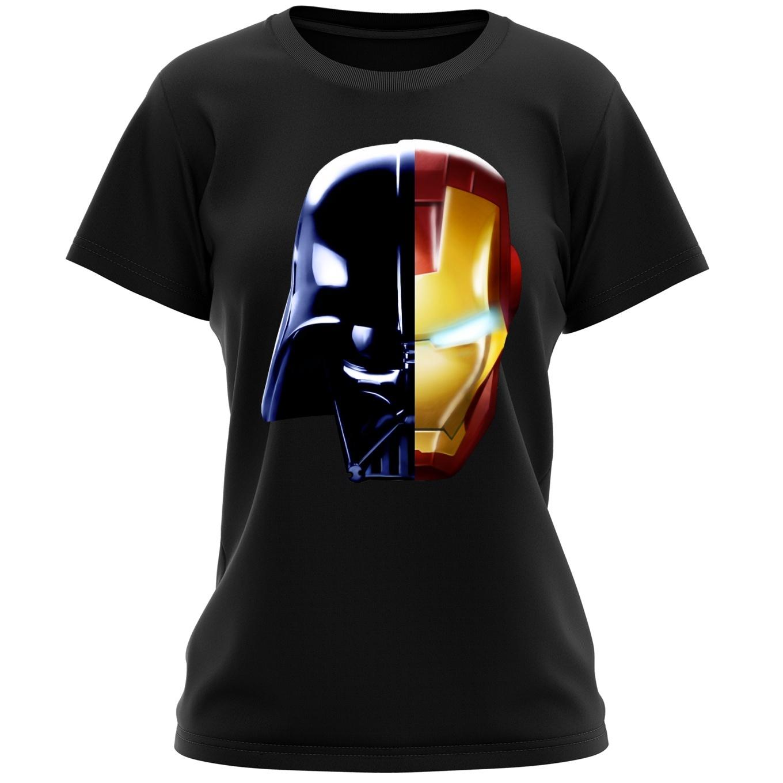 b19345b0 Funny Star Wars Women T-shirt - Darth Vader, Iron Man and Daft Punk ...