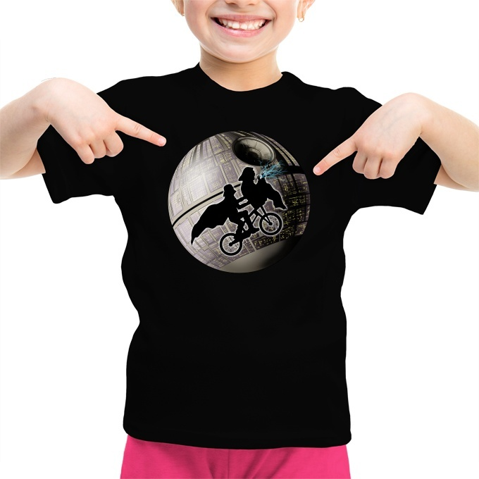 5e3c33b1 Darth Vader and Darth Sidious - On road for the Death Star. Girls Kids T- shirts ...
