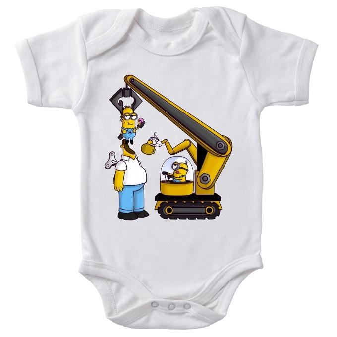 de73713df42289 Funny Minions - Simpsons Bodysuits - Kévin the Minion and Homer Simpson ( Minions - Simpsons Parody)