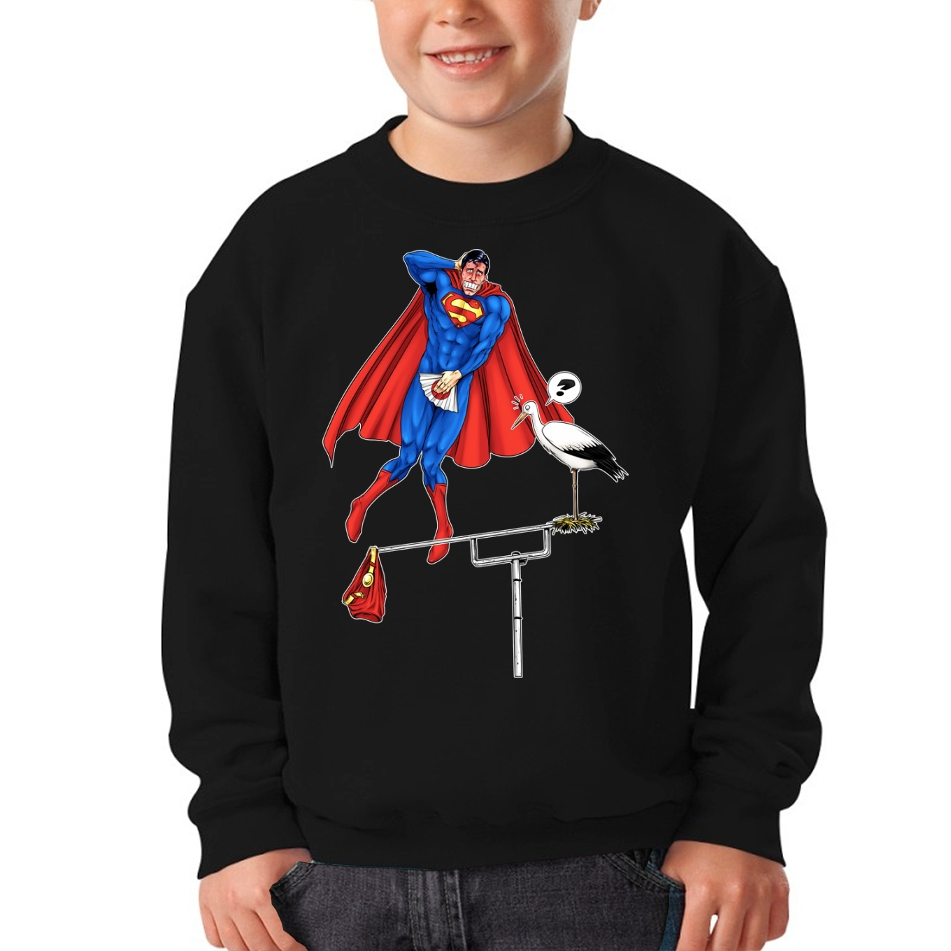 2a0b56e4b5ede Funny Superman Kids Sweater - Superman - The Man of Steel ...