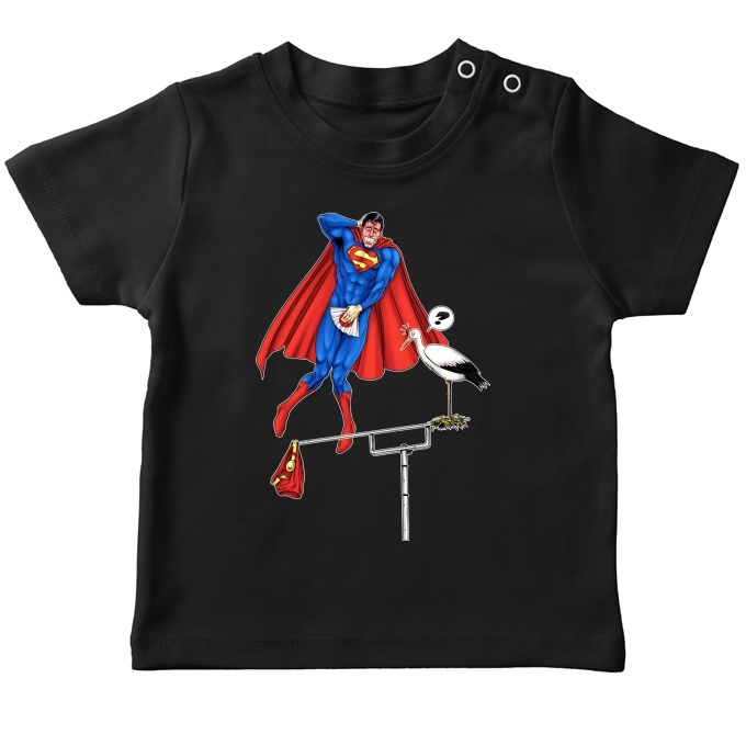 f193e37062eaa Funny Superman Baby s T-shirt - Superman - The Man of Steel ...