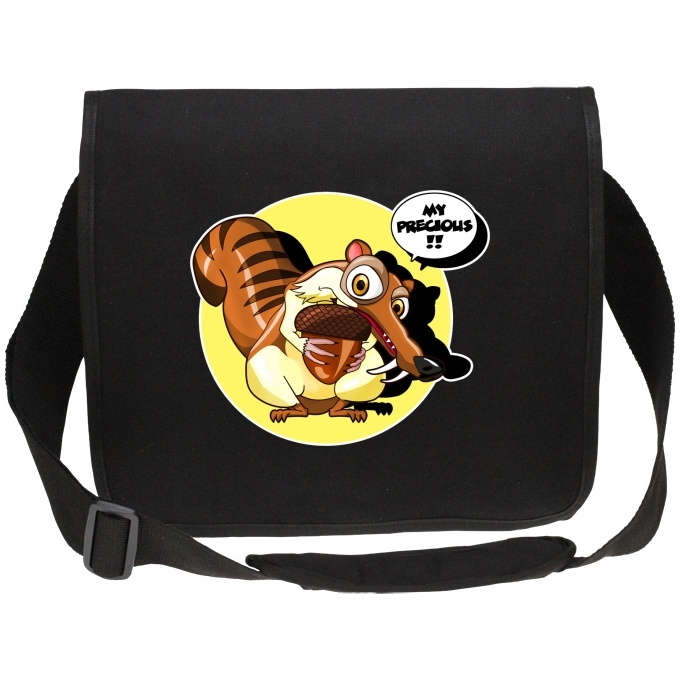Funny Ice Age The Lord Of Rings Canvas Messenger Bags Scrat And Gollum Parody