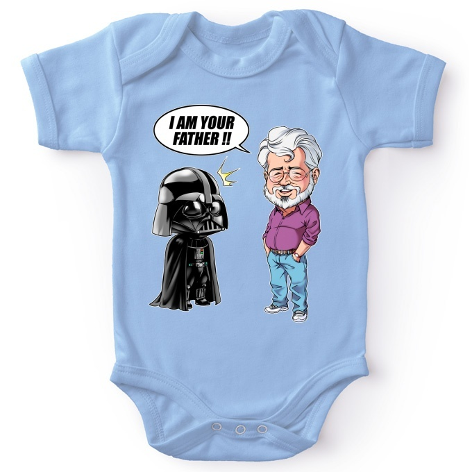6dea9125e Funny Star Wars Baby Bodysuit - Darth Vader and George Lucas - I am ...