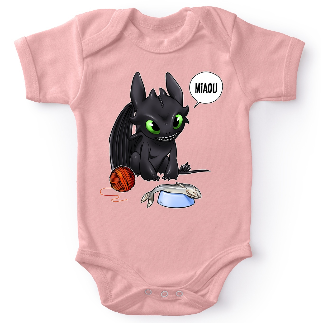 Short-sleeved baby bodysuit (Girls) Movies Parodies