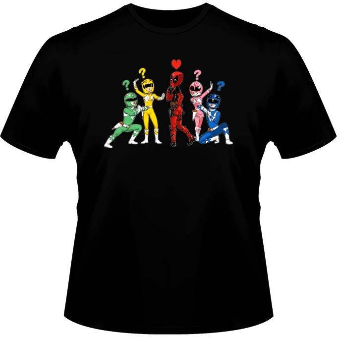 Funny Deadpool Power Rangers T Shirts Deadpool And Power Rangers