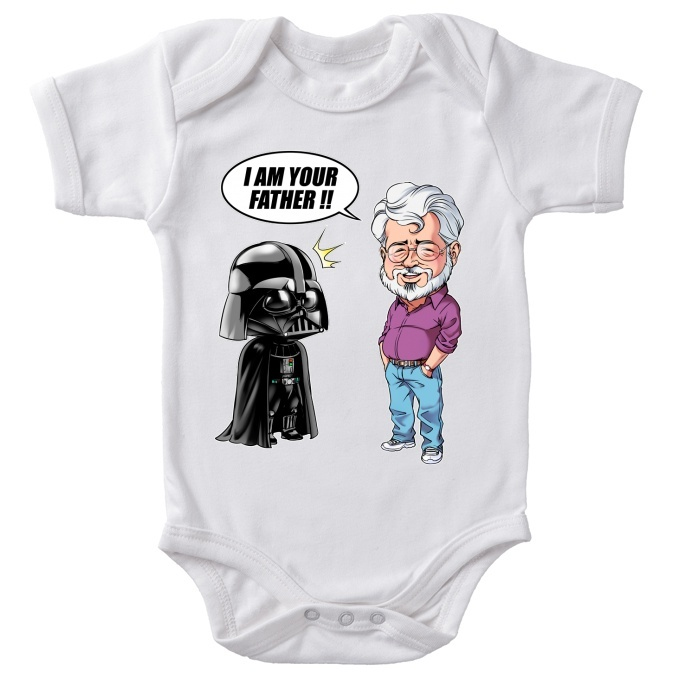 bbb38e9568d8 Funny Star Wars Bodysuits - Darth Vader and George Lucas - I am your Father  (Star Wars Parody)