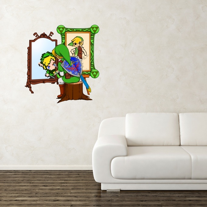 stickers d co jeux vid o parodie de link de zelda la. Black Bedroom Furniture Sets. Home Design Ideas