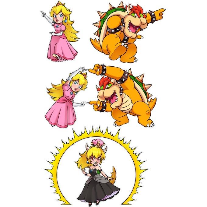 Funny Mario Sleeveless Baby Bodysuit Princess Peach And Bowser Aka Bowsette Mario Parody Ref1053