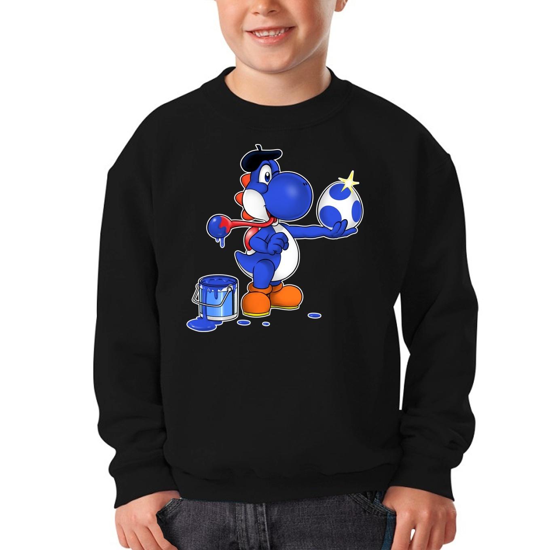 Yoshi Lustiges Pullover & Strickjacken - Blauer Yoshi in Yoshi Parodie