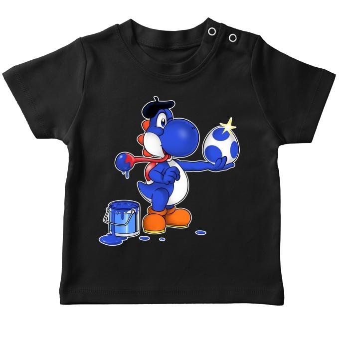 Version bleue fonc/ée Parodie Yoshi Peinture fra/îche. Okiwoki Mugs Yoshi parodique Yoshi bleu fonc/é