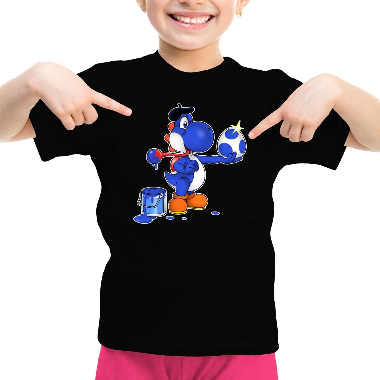 Yoshi Lustiges T-Shirts - Blauer Yoshi in Yoshi Parodie