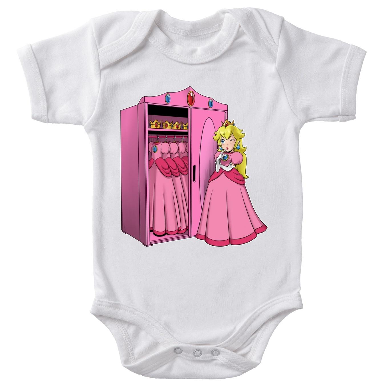 Funny Mario Baby Bodysuit Princess Peach Mario Parody Ref641