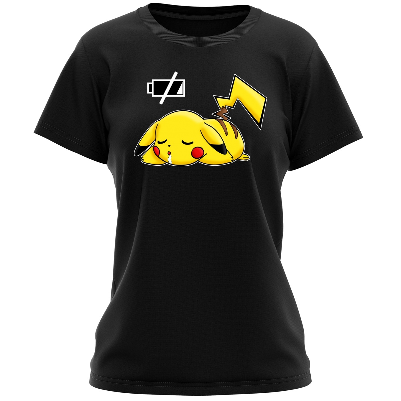 3c00e6ac Funny Pokémon Parodies Women T-shirt - Pikachu - Battery Off ...