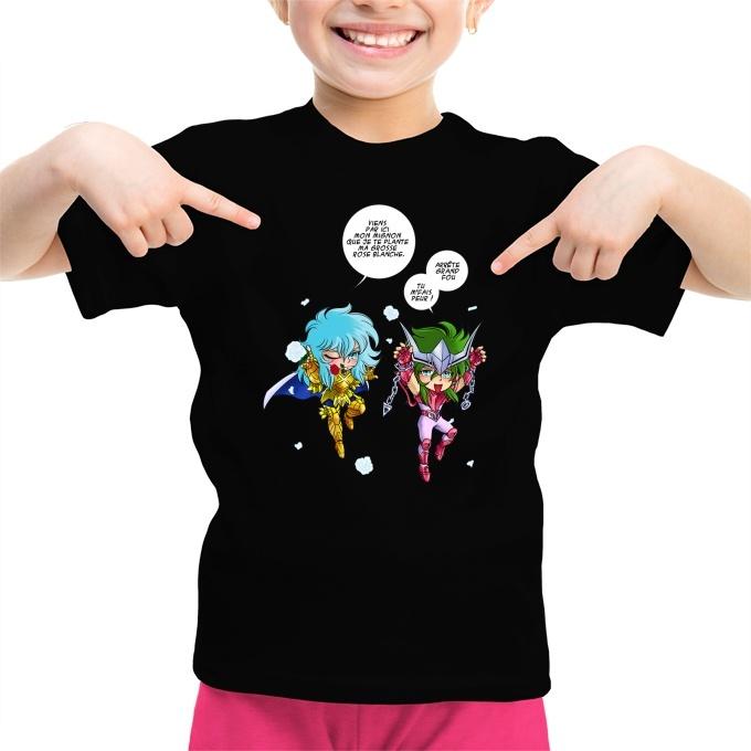 b7fc117e01a3f T-shirt Enfant Fille Saint Seiya parodique Shun d'Andromède et ...