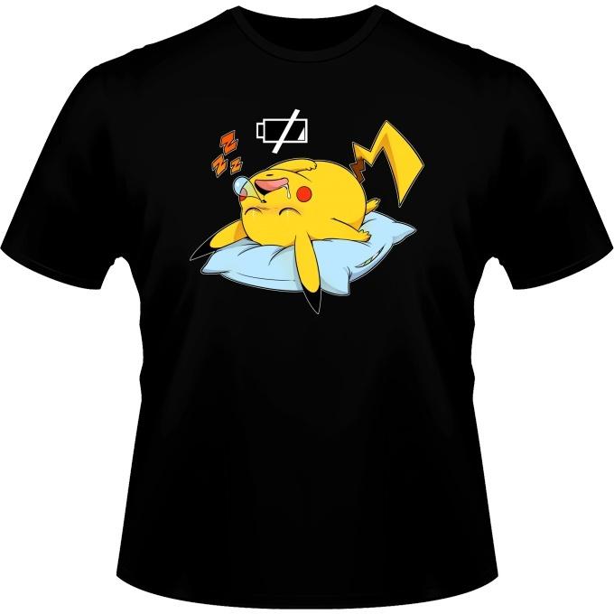 Batterie d/écharg/ée Parodie Pok/émon OKIWOKI D/ébardeur Femme Noir Pok/émon parodique Pikachu