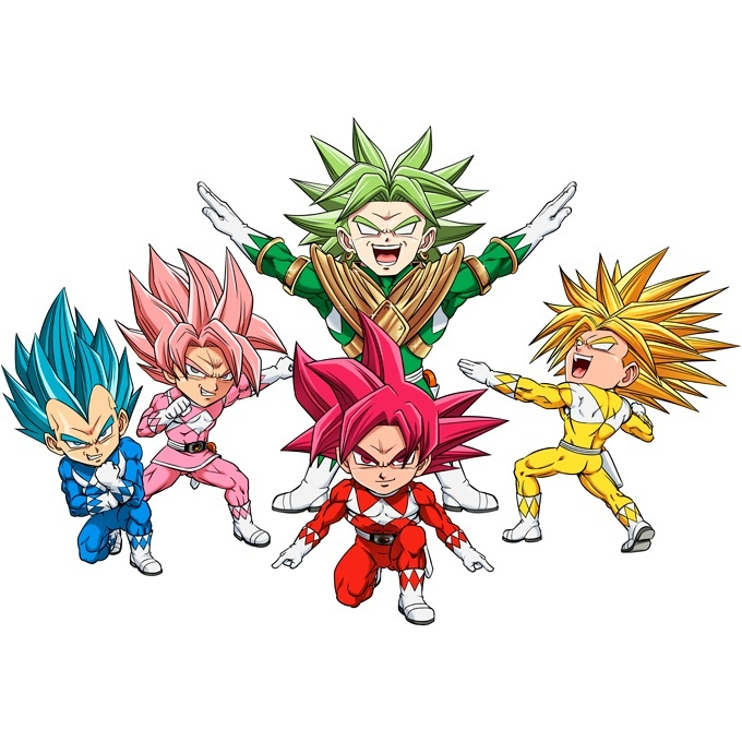 Großhändler 6279b afc01 Dragon Ball Super - Power Rangers Lustiges ärmelloser Baby Strampler -  Son-Goku, Vegeta, Broly, Black Goku, Trunks X Power Rangers (Dragon Ball  Super ...