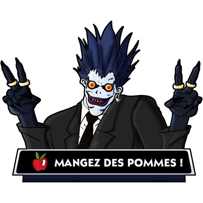 Mug Death Note parodique Ryuk le shinigami : Mangez des Pommes ! (Parodie Death Note)