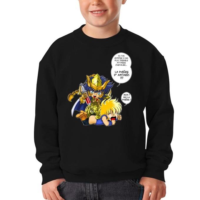 d17ce719f56d3 Pull Enfant Saint Seiya parodique Hyoga du cygne et Milo chevalier d ...
