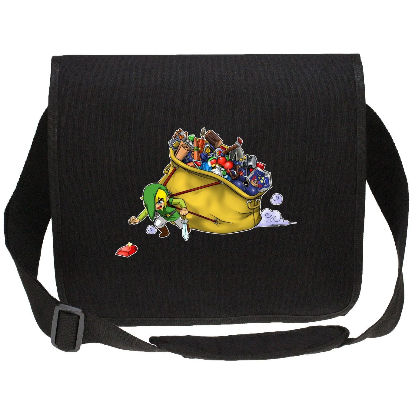 Canvas Messenger Bags Video Games Parodies