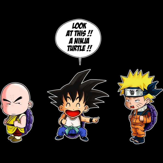 Funny Naruto Dragon Ball Kids Sweater Son Goku Kuririn And Naruto Naruto Dragon Ball Parody Ref727