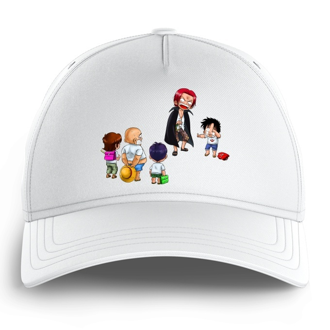 Funny One Piece Kid Cap Monkey D Luffy And Red Haired Shanks One Piece Parody Ref 673