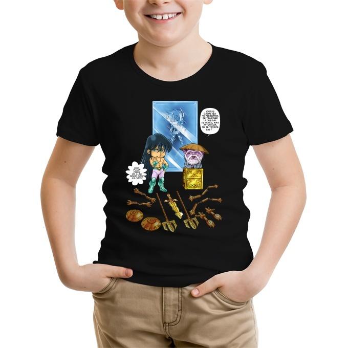 7a42d6ee31dc9 T-shirt Enfant Saint Seiya parodique Shiryu du Dragon et Dohko ...