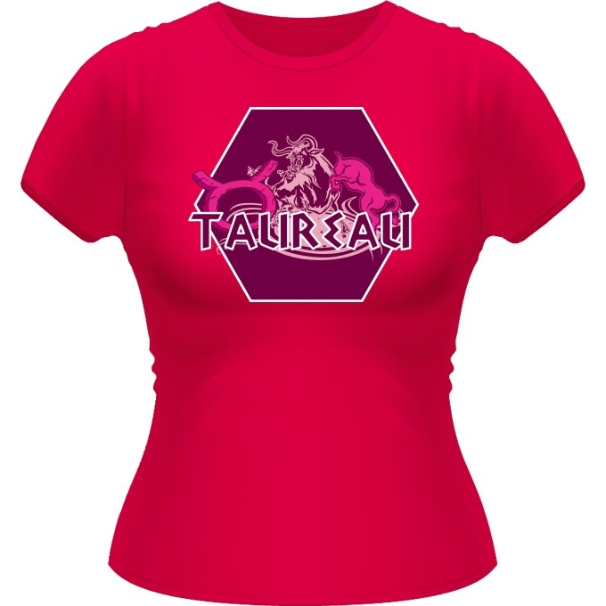 t shirts femmes zodiaque taureau signe astrologique artwork du signe du taureau version rose. Black Bedroom Furniture Sets. Home Design Ideas
