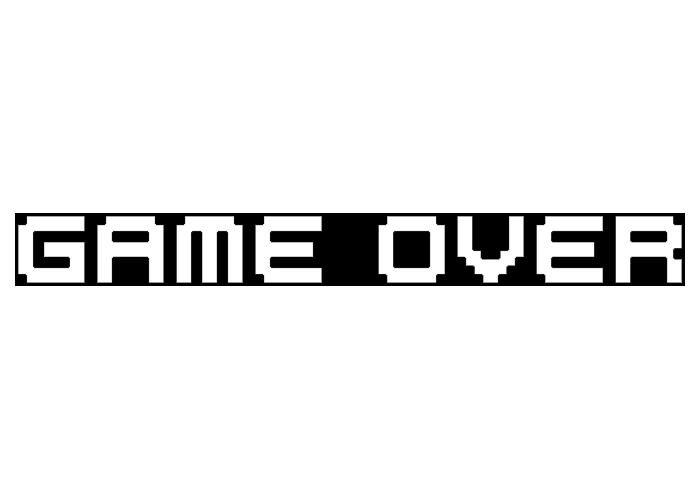 T-shirts Jeux Vidéo Pixel parodique Pixel Design : Game Over (Parodie Jeux Vidéo Pixel)