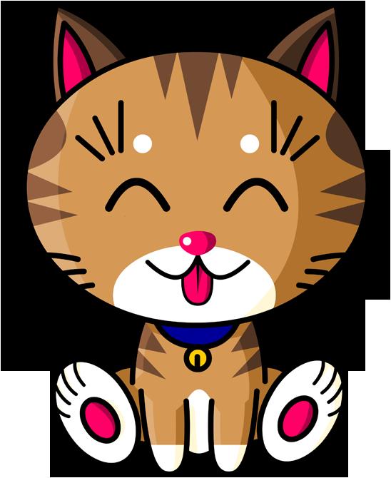 Kawaii Baby Cat (tigré)