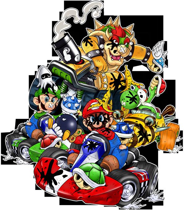 Bowser, Mario, Luigi and Yoshi
