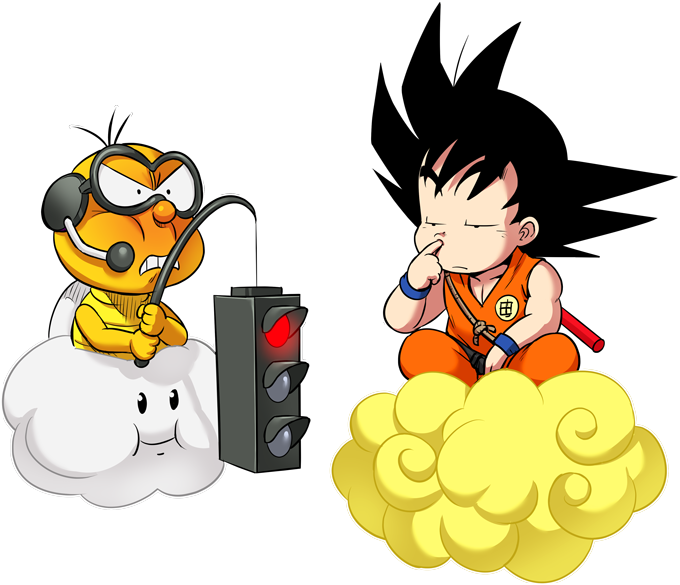 Son Goku and Lakitu