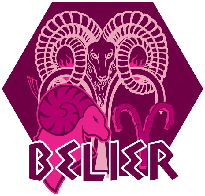 Artwork du signe du Bélier (Version rose)