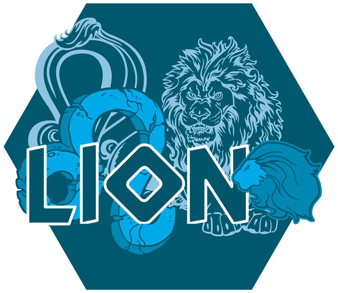 Artwork du signe du Lion (Version Bleue)