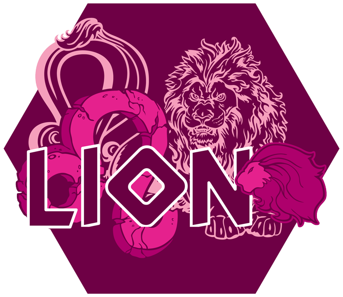 Artwork du signe du Lion (Version Rose)