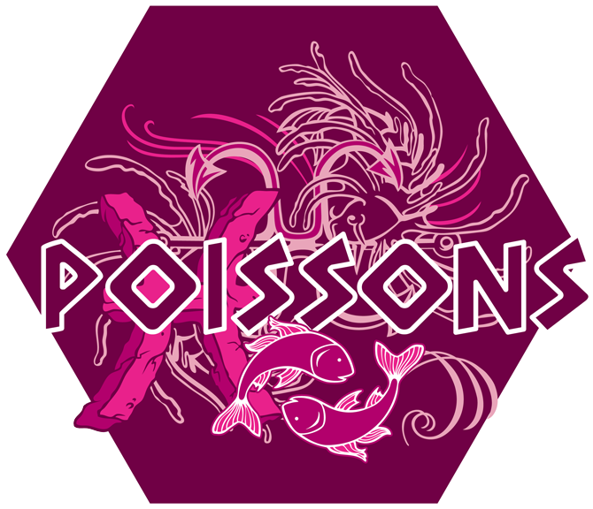 Artwork du signe des Poissons (Version Rose)