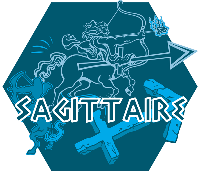 Artwork du signe du Sagittaire (Version Bleue)