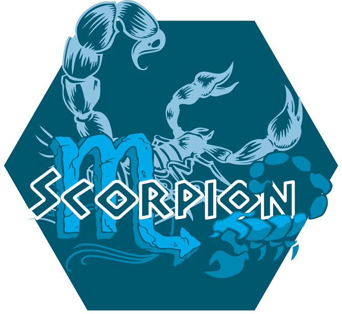 Artwork du signe du Scorpion (Version Bleue)