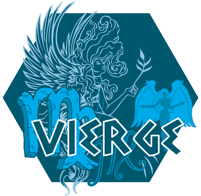 Artwork du signe de la Vierge (Version Bleue)