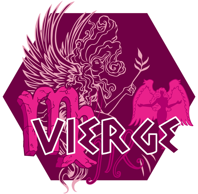 Artwork du signe de la Vierge (Version Rose)