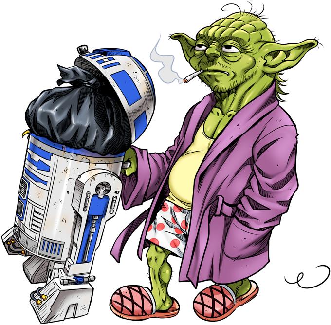 R2-D2 and Master Yoda