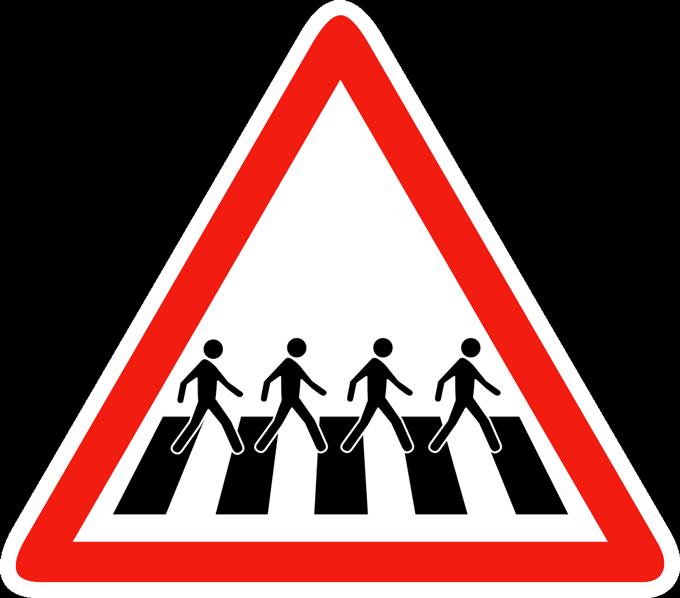 Signalisation passage piéton de l'Abbey Road