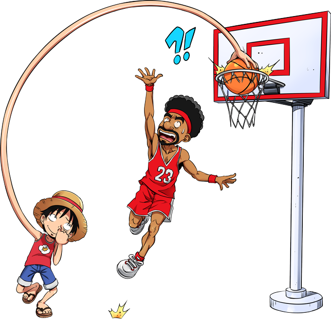 Luffy - On The Basket Ball Playground