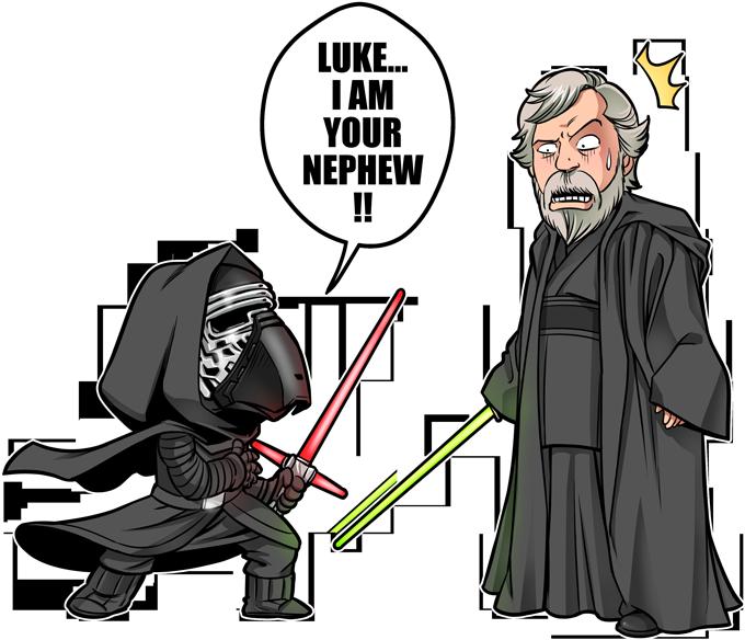 Kylo Ren And Luke Skywalker
