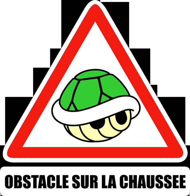 Obstacle sur la chaussée !